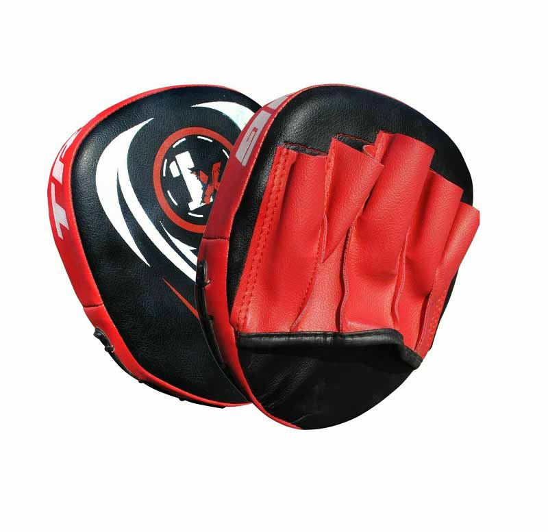 Onex Curved Focus Pad Mitts Boxing Gloves Hook and Jab Punch Bag Kick MMA Set